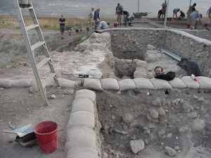A present day archaeological dig at Beth-Shemesh