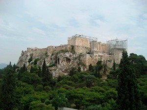 A view of the Acropolis from Mars Hill